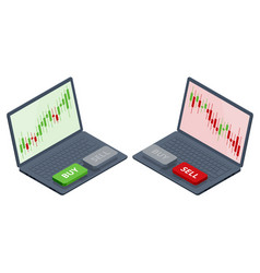 Isometric investing and stock market gain and vector