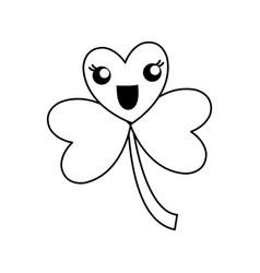 kawaii clover icon vector image