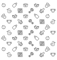 Kids stuff pattern vector