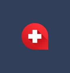 Letter a cross plus logo icon design template vector