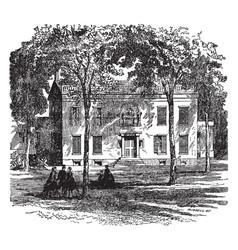 lindenwald van burens estate vintage vector image