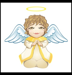 little angel in white isolated vector image