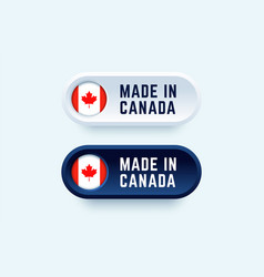 made in canada sign in two color styles vector image