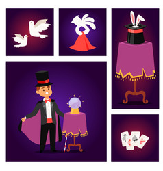 magician prestidigitator vector image
