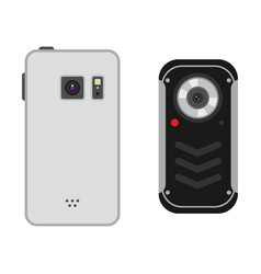 Mobile phone camera vector