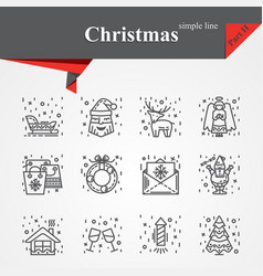 modern of thin line icons set for holiday vector image