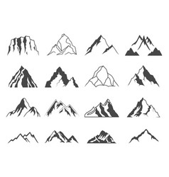 Mountain shapes for logos vector