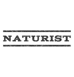 Naturist Watermark Stamp vector image