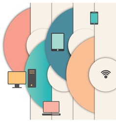 Network icons with circles vector image