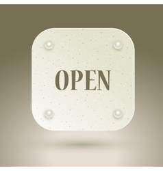 Open icon with rivets vector