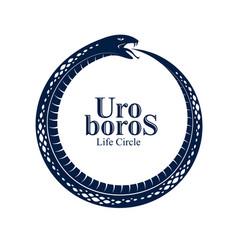 Ouroboros snake in a shape circle endless vector