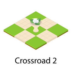 Park crossroad icon isometric style vector