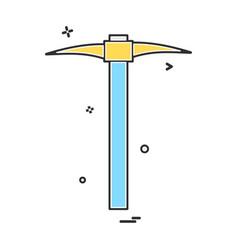 pickaxe tool design vector image
