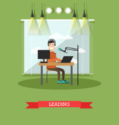 Radio presenter concept in vector