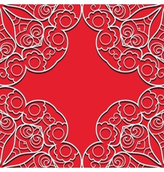 Red lace seamless pattern vector image