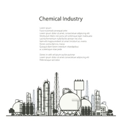 Refinery Processing of Natural Resources vector