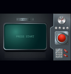 Retro interface control panel with display vector