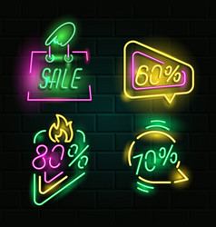 retro neon signs vector image