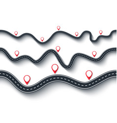 Road trip and journey route seamless winding vector