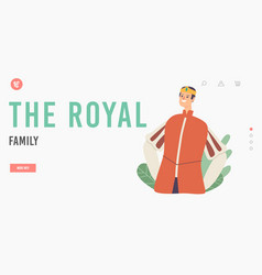 royal family landing page template middle ages vector image