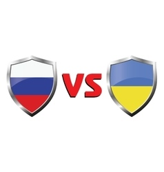 Russia vs Ukraina flag icons theme vector image