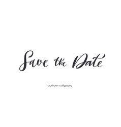 save date brushpen handwritten calligraphy vector image