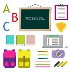 School supplies clip art objects vector