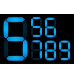 set of digital numbers vector image vector image