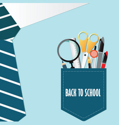 shirt of back to school conceptual with office vector image