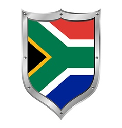 South Africa flag button vector image