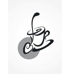 spoon and mug vector image