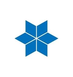 Star logo concept Flat vector