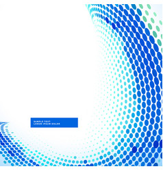 stylish blue halftone wave background vector image