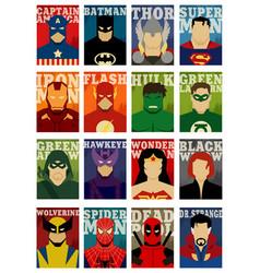 Superhero character flat poster vector