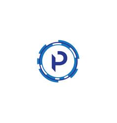 Technology letter p vector