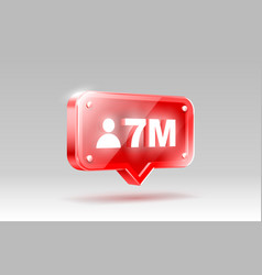 thank you followers peoples 7 million online vector image