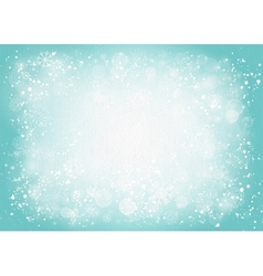 turquoise canvas background with snowflakes vector image
