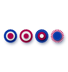 Usa paper fans collection vector