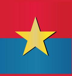 Vietcong ex vietnam communist propagandha flag vector