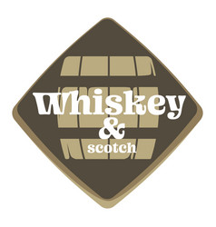 whiskey and scotch factory or brewery isolated vector image