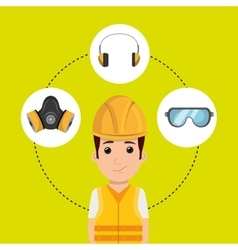 Worker equipment protection tool vector