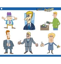 cartoon set of businessmen vector image