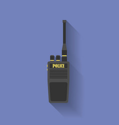 Icon of Police radio Flat style vector image vector image