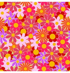 Summer colorful flowers seamless pattern vector image
