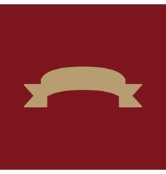 The ribbon icon Banner symbol Flat vector image vector image