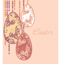 Easter eggs garland vector image