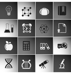 Education Icons Set Vol 2 vector image