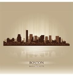 Boston Massachusetts skyline city silhouette vector image vector image
