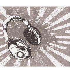 concert wallpaper with headphones vector image