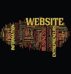 entrepreneur com text background word cloud vector image vector image